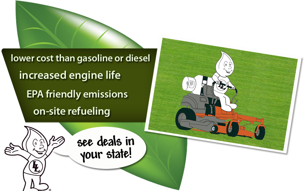 Convert your lawn mower to propane today!